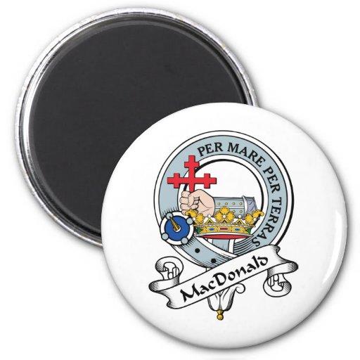 MacDonald de la insignia del clan de Donald Imán Redondo 5 Cm