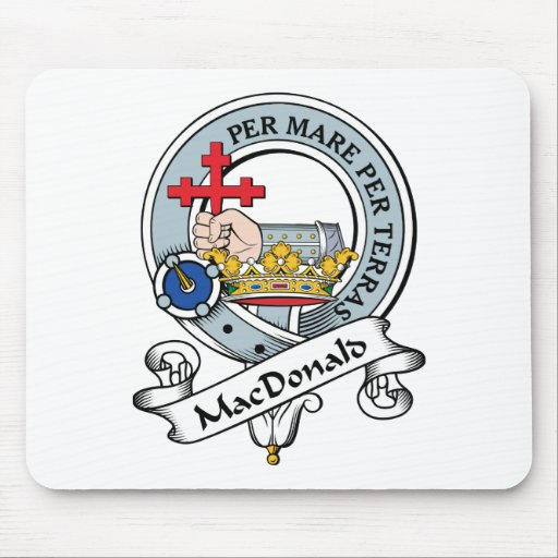 MacDonald de la insignia del clan de Donald Tapete De Ratones