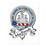 MacDonald de la insignia del clan de Ranald Tarjeta Postal