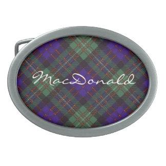 MacDonald del modelo escocés del tartán del gorro  Hebilla Cinturon Oval
