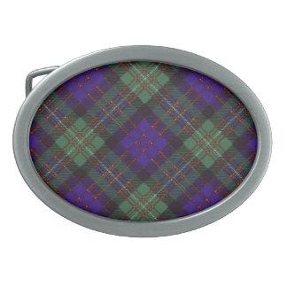 MacDonald del modelo escocés del tartán del gorro  Hebilla Cinturon