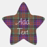 MacDonald del tartán del escocés de Clanranalld Pegatina En Forma De Estrella
