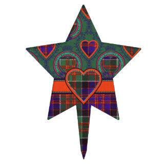 Macdonald del tartán del escocés de la tela figuras para tartas