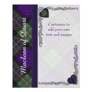 """Macdonald del tartán del escocés de la tela folleto 4.5"""" x 5.6"""""""