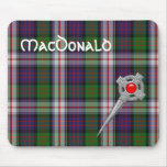 MacDonald Dress Tartan & Celtic Knot Kilt Pin Mouse Pad