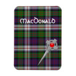 MacDonald Dress Tartan Plaid with Celtic Kilt Pin Magnet