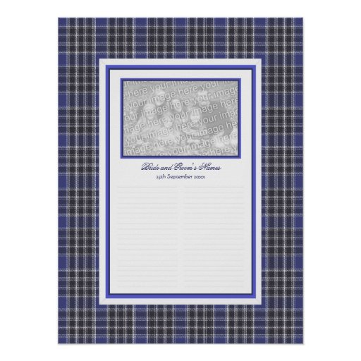 MacDonald Lord of the Isles Tartan Guestbook Poster