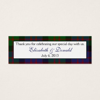 MacDonald McDonald Tartan Wedding Favour Tags