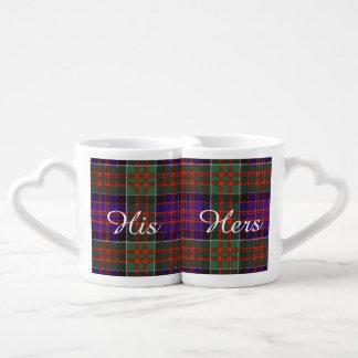 Macdonald of Clanranalld Plaid Scottish tartan Coffee Mug Set