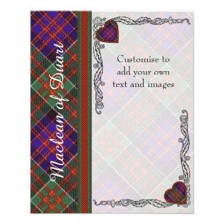 Macdonald of Clanranalld Plaid Scottish tartan Flyer