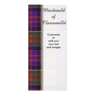 Macdonald of Clanranalld Plaid Scottish tartan Rack Card