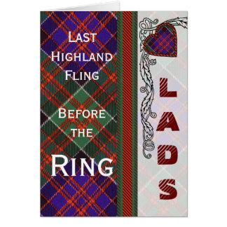 MacDonald of Clanranalld Scottish Tartan Card