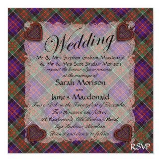 Macdonald of Clanranalld Scottish tartan - Plaid Card