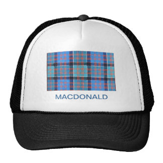 MACDONALD of GLANRANALD FAMILY TARTAN Trucker Hat