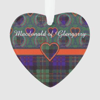 Macdonald of Glengarry clan Plaid Scottish tartan