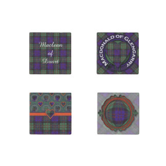 Macdonald of Glengarry clan Plaid Scottish tartan Stone Magnet