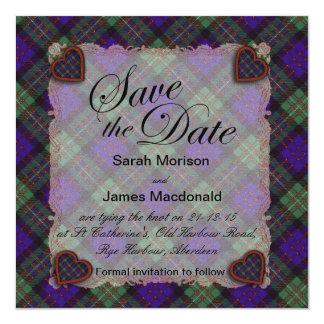 Macdonald of Glengarry Scottish clan tartan  Plaid Card