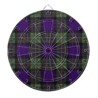 MacDonald of Glengarry Scottish Tartan pattern Dartboard With Darts