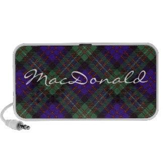 MacDonald of Glengarry Scottish Tartan pattern iPhone Speakers
