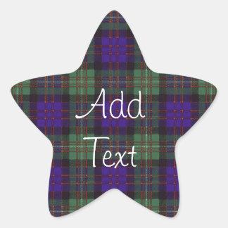 MacDonald of Glengarry Scottish Tartan pattern Star Stickers