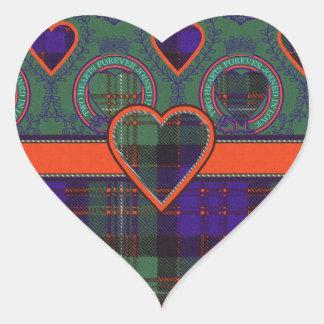 Macdonald of Glengarry Scottish tartan Heart Stickers