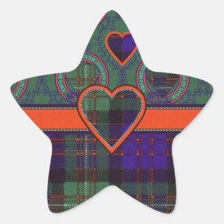Macdonald of Glengarry Scottish tartan Star Stickers