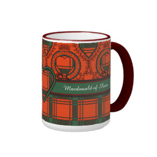 Macdonald of Sleate Plaid Scottish tartan Ringer Mug