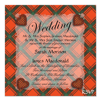 Macdonald of Sleate Scottish clan tartan - Plaid Card