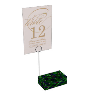 MacDonald of the Isles Table Number Holder