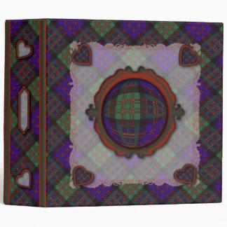 Macdonald Scottish clan tartan - Plaid 3 Ring Binder