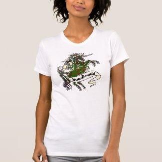 MacDonald Tartan Unicorn T Shirt