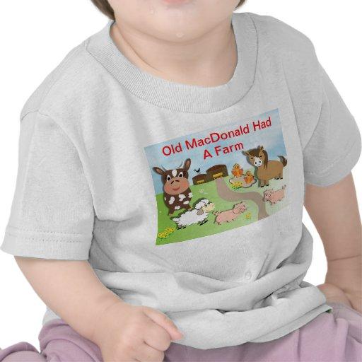MacDonald viejo lindo tenía un tema de la granja Camiseta