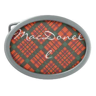 MacDonell del modelo escocés del tartán de Keppoch Hebilla Cinturón Oval