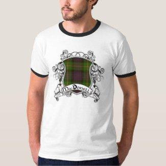 MacDonell Tartan Shield Tee Shirts