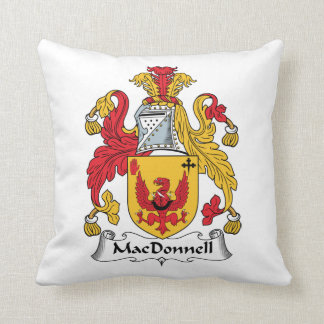MacDonnell Family Crest Throw Pillow