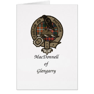 Macdonnell Of Glengarry Clan Crest Card