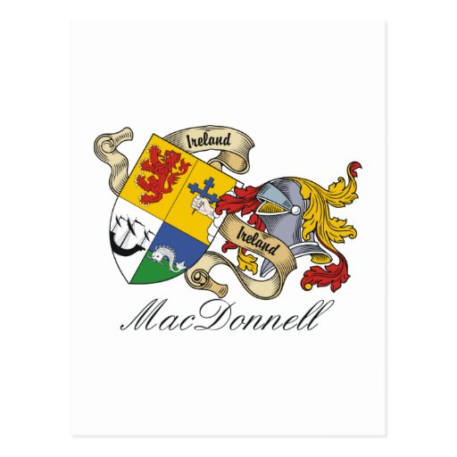 MacDonnell (of the Glens) Family Crest Postcard