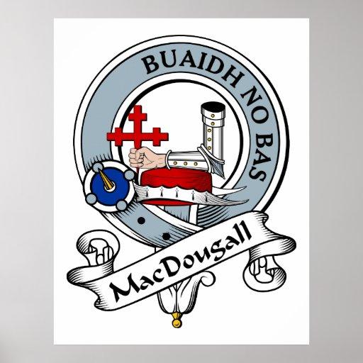 MacDougall Clan Badge Poster