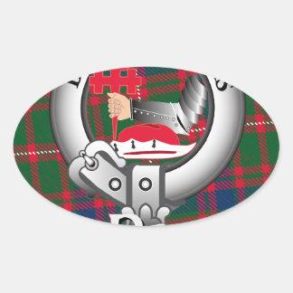 MacDougall Clan Oval Sticker