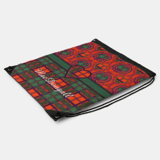 MacDougall clan Plaid Scottish kilt tartan Drawstring Backpack