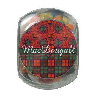 MacDougall clan Plaid Scottish kilt tartan Glass Candy Jars
