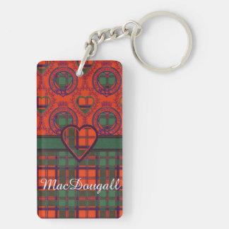 MacDougall clan Plaid Scottish kilt tartan Rectangle Acrylic Key Chain