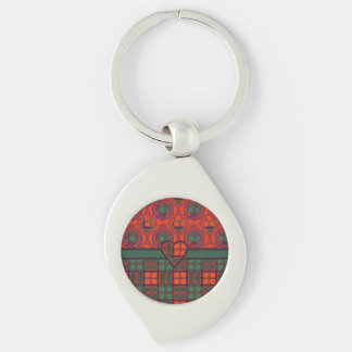 MacDougall clan Plaid Scottish kilt tartan Keychain