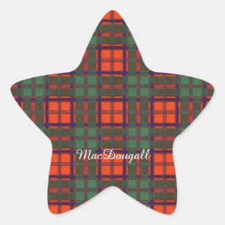 MacDougall clan Plaid Scottish kilt tartan Star Sticker