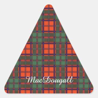 MacDougall clan Plaid Scottish kilt tartan Triangle Sticker