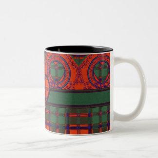 MacDougall clan Plaid Scottish kilt tartan Two-Tone Coffee Mug
