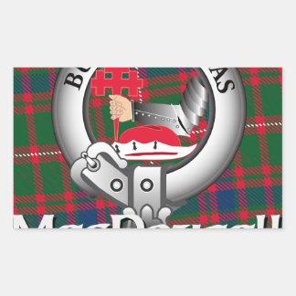 MacDougall Clan Rectangular Sticker
