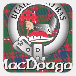 MacDougall Clan Square Sticker