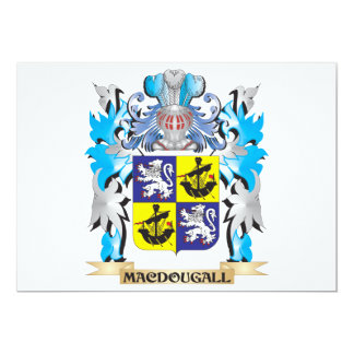 Macdougall Coat of Arms - Family Crest 5x7 Paper Invitation Card