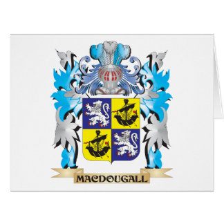 Macdougall Coat of Arms - Family Crest Large Greeting Card